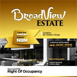 Residential Land for sale Idu Town Idu Abuja