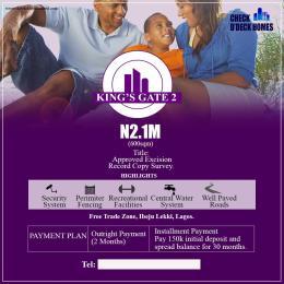 Serviced Residential Land Land for sale - Ibeju-Lekki Lagos