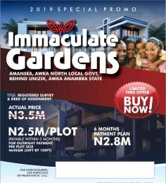 Residential Land Land for sale Estate land few minutes from UNIZIK back gate Ifite Road  Awka South Anambra