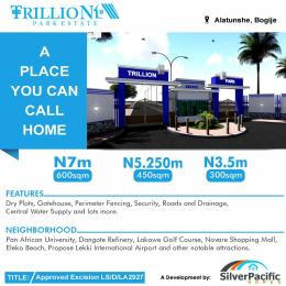 Residential Land Land for sale Trillion Park Estate Bogije Sangotedo Lagos
