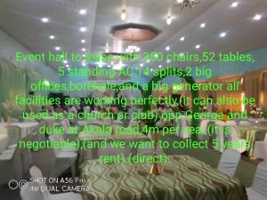 Event Centre Commercial Property for rent Opposite George and Duke Akala Express Ibadan Oyo