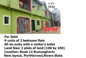 Blocks of Flats House for sale Road 12 Rumuaghorlu New layout, PortHarcout,Rivers State Port Harcourt Rivers