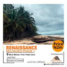 Residential Land Land for sale Okun Mosan, Free Trade Zone, Ibeju-Lekki, LAGOS NIGERIA  Okunraiye Ibeju-Lekki Lagos