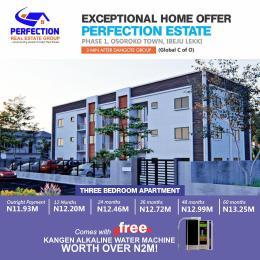 3 bedroom Flat / Apartment for sale Perfection Estate, Osoroko, 3 Minutes From Dangote Group Ibeju-Lekki Lagos