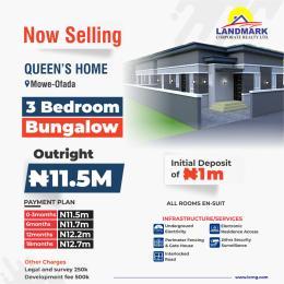 3 bedroom Semi Detached Bungalow House for sale Mowe Ofada GRA, Ogun State Ofada Obafemi Owode Ogun