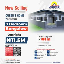 3 bedroom Semi Detached Bungalow House for sale Mowe Ofada GRA, Ogun State Mowe Obafemi Owode Ogun
