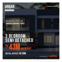 3 bedroom Semi Detached Duplex House for sale Urban Prime Two, Abraham Adesanya Off Lekki-Epe Expressway Ajah Lagos