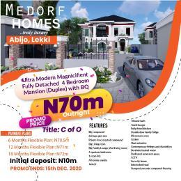 5 bedroom Detached Duplex House for sale Green Park Scheme Estate Abijo Ajah Lagos