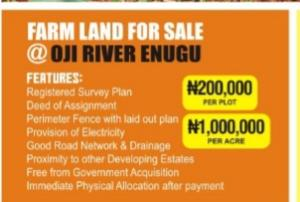 Commercial Land Land for sale Oji-river Oji-River Enugu