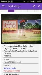 Commercial Land Land for sale Very Close To Saint Augustine University  Epe Road Epe Lagos