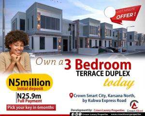 3 bedroom Terraced Duplex House for sale Kubwa Express Road, Gwarimpa Extension, FCT Abuja Karsana Abuja