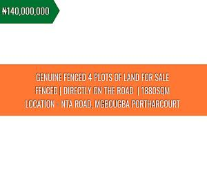 Commercial Land Land for sale Nta Road Magbuoba Port Harcourt Rivers