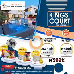 Residential Land Land for sale FENCED KING'S COURT ESTATE (IDO OLOGUNERU IBADAN) AKINYELE IBADAN OYO STATE  Akinyele Oyo