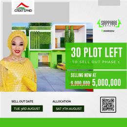 Land for sale Sapphire Estate Ikorodu Lagos