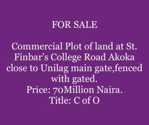 Land for sale Akoka Yaba Lagos