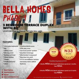 3 bedroom Terraced Duplex House for sale Bella Homes Phase 1 Close to Chevron Toll Gate Axis  chevron Lekki Lagos