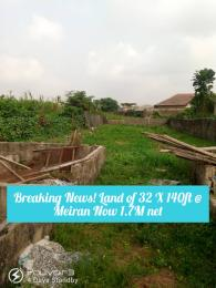 Land for sale Meiran accessible via Baale bus stop. Abule Egba Lagos
