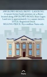 Detached Duplex House for sale Awolowo Road Ikoyi Lagos
