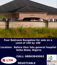 4 bedroom House for sale Otor Udu general hospital Delta state Nigeria  Udu Delta