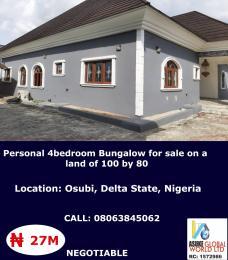 4 bedroom House for sale Osubi Warri Delta State Nigeria Okpe Delta
