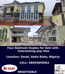 4 bedroom Detached Duplex House for sale Osubi Delta state Nigeria Warri Delta