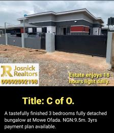 3 bedroom Detached Bungalow House for sale Ofada Obafemi Owode Ogun