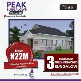 3 bedroom Detached Bungalow House for sale - Oribanwa Ibeju-Lekki Lagos