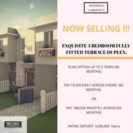 4 bedroom Terraced Duplex House for sale Palm City Estate, off Ado Road, Ajah, Lekki, lagos Ado Ajah Lagos