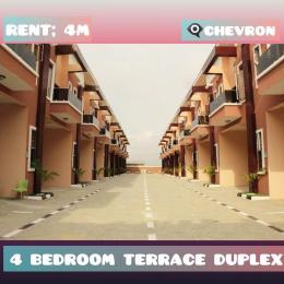 4 bedroom Terraced Duplex for rent chevron Lekki Lagos