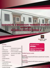 3 bedroom Terraced Duplex House for sale Close To Chevron Toll Gate Axis Phase 2.furnished And Exquisite 3 Bedroom Terraced Duplex With Bq In Lekki. Lekki Phase 2 Lekki Lagos
