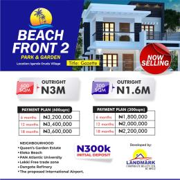 Mixed   Use Land for sale Beach Front Park And Gardens Estate Free Trade Zone Ibeju-Lekki Lagos