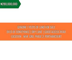 Land for sale Phase 3 New GRA Port Harcourt Rivers