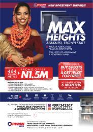 Residential Land Land for sale Max height Abakaliki Ebonyi