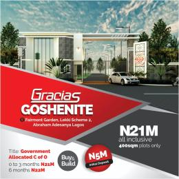 Residential Land Land for sale Gracia goshenite  estate with government allocated C of O,very close to Abraham Adesanya Estate Abraham adesanya estate Ajah Lagos