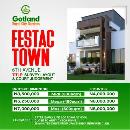 Residential Land Land for sale Royal city gardens estate Festac with registered survey and court judgment, very close to early life secondary schools Festac Amuwo Odofin Lagos