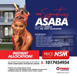 Land for sale The signatures Asaba Delta