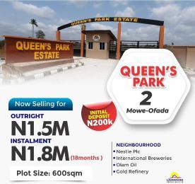 Serviced Residential Land Land for sale Queens park estate mowe ofada Sagamu Sagamu Ogun