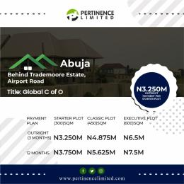 Land for sale Abuja behind Trademoore Estate, Airport road. Wumba Abuja