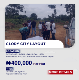 Commercial Land Land for sale IPO/ABARA/ 15mins Drive From The Port Harcourt International Airport Ikwerre Rivers