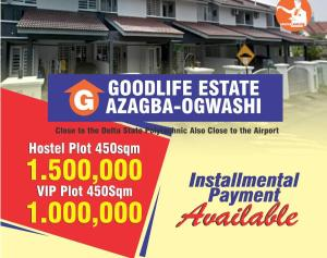 Residential Land Land for sale Azagba Ogwasi A minute drive to the delta state polytechnic and 15minute drive to airport  Ethiope East Delta