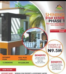 Land for sale SHINING STAR ESTATE PHASE 1 ELUJU(IBEJU LEKKI) OPPOSITE AMEN ESTATE PHASE Eluju Ibeju-Lekki Lagos