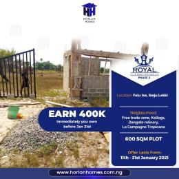 Residential Land Land for sale Top 1 Estate In Ibeju Lekki 2021, 5 Minutes From La Campagne Tropicana, Folu Ise Community Ise town Ibeju-Lekki Lagos