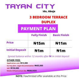 3 bedroom Terraced Duplex House for sale Idu Abuja