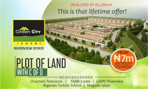 Residential Land Land for sale Green City Isheri, Isheri North,Opic, very close to Nigeria Turkish School and Nogeria Airport  Authority Cooperative Estate  Isheri North Ojodu Lagos