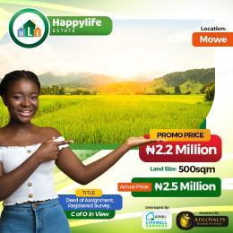 Residential Land for sale Opposite Christopher University (beside Rccg Youth Church), Mowe Obafemi Owode Ogun