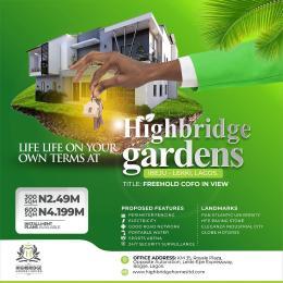 Residential Land for sale Highbride Gardens Ibeju-Lekki Lagos