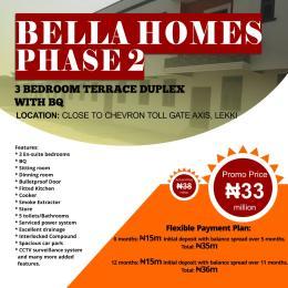3 bedroom Terraced Duplex House for sale Bella Homes  chevron Lekki Lagos