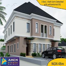 4 bedroom House for sale Amen Estate Phase 2  Is Located At Eleko Beach Road Lagos Nigeria  Eleko Ibeju-Lekki Lagos