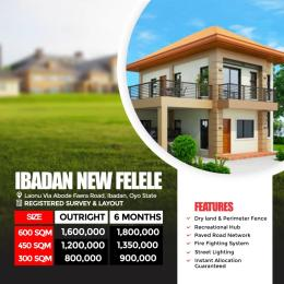 Residential Land Land for sale Ibadan New Felele Estate, Laonu Via Abaode Faera Road  Sabo(Ibadan) Ibadan Oyo
