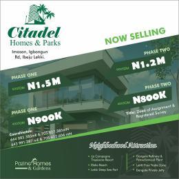 Mixed   Use Land for sale Citadel Homes And Parks Imosan Igbongun Road Ibeju Lekki Akodo Ise Ibeju-Lekki Lagos